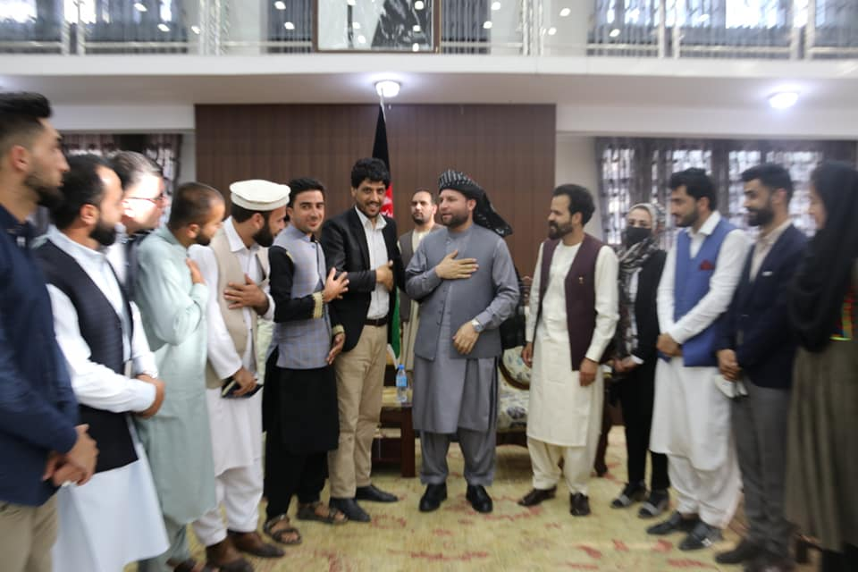 SMPA Minister meets Youths of Maidan Wardak and members of (34+1) Association