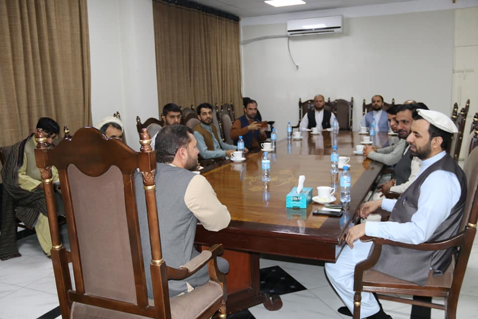 SMPA Minister Meets Deputy of MOT, Director of Teachers' Training at MOE and DG of C. Baghlan