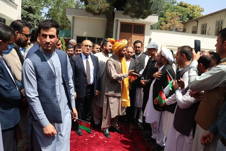 Ziaulhaq Amarkhil bids farewell to the State Ministry for Parliamentary Affairs