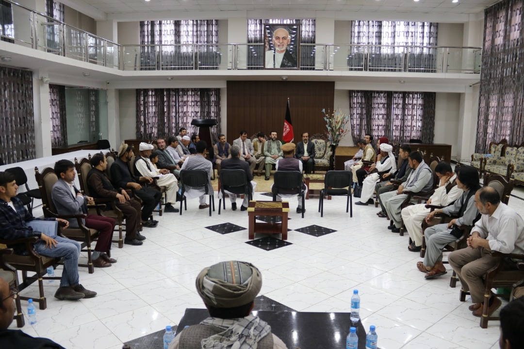 Deputy of Parliamentary Affairs meets the former Governor of Paktika & Social Activists