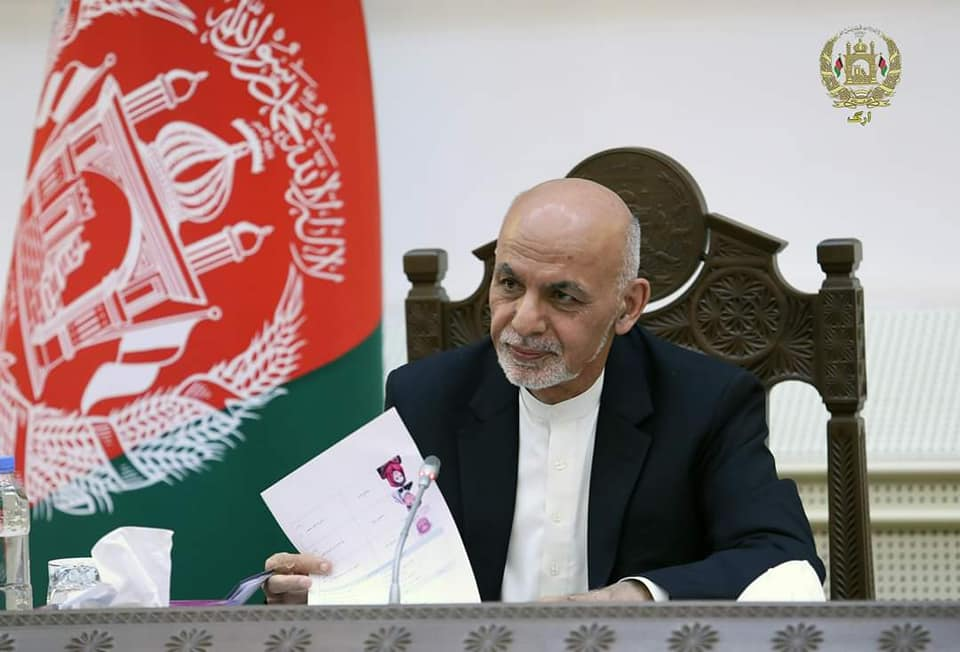 President Ghani in a meeting with the Chairmen and members of Commissions of the Wolesi Jirga: