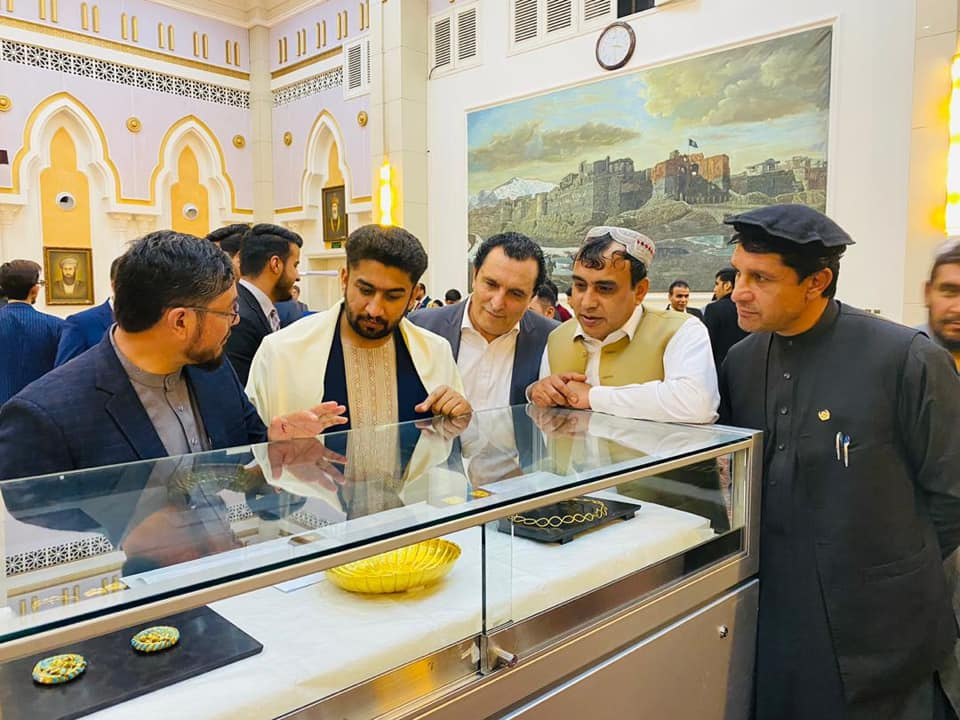 SMPA Minister Gul Badshah Majidi attended the Exhibition of Bakhtar Gold Treasure