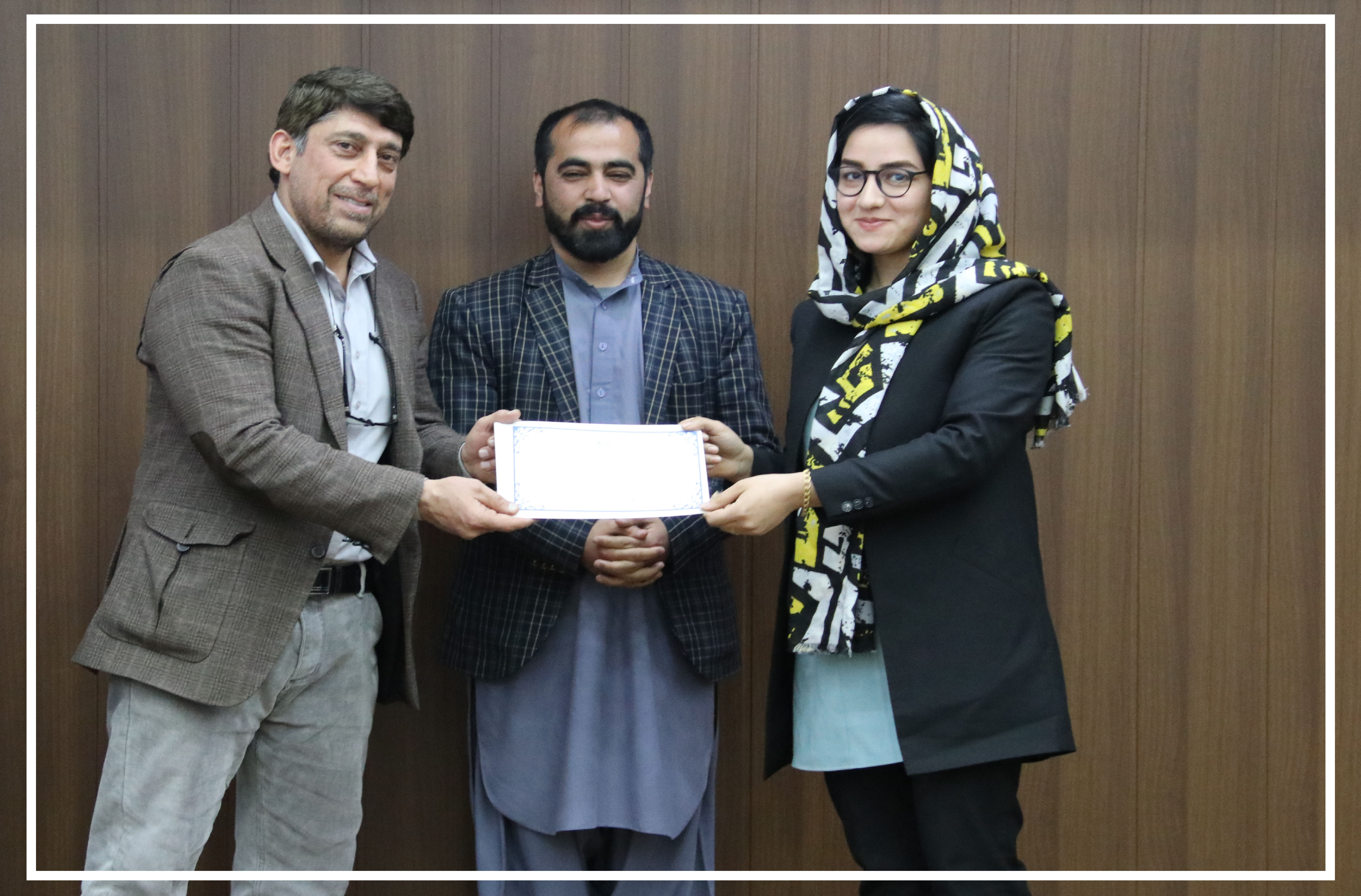 Capacity Building Department award Certificates to a number of SMPA Employees.